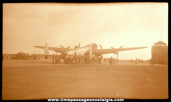 (5) Old United States Military War Plane Photograph Negatives