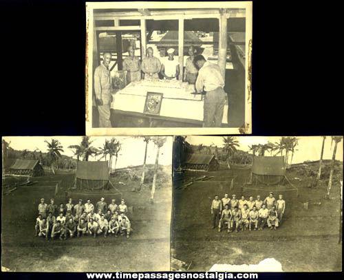 (3) United States Navy Seabees World War II Photographs
