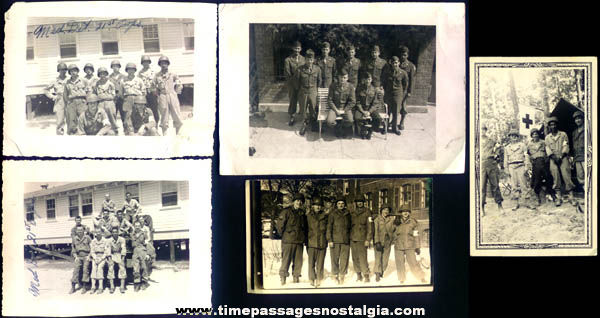 (5) Old U.S. Army Medical Detachment 21st Corps Group Photographs