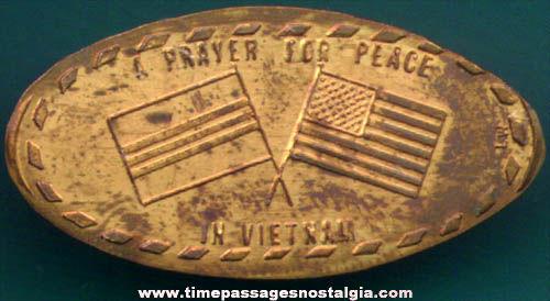 1965 Lincoln Memorial Vietnam Elongated Cent
