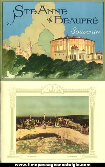 Old Saint Anne de Beaupre Souvenir Print Booklet