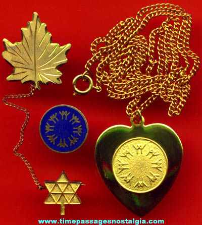 (3) Montreal Canada Expo '67 Advertising Souvenir Jewelry Items