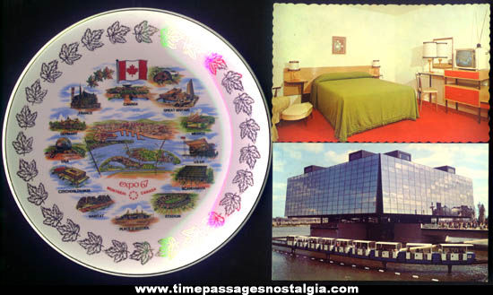 (5) Montreal Canada Expo '67 Advertising Souvenir Items