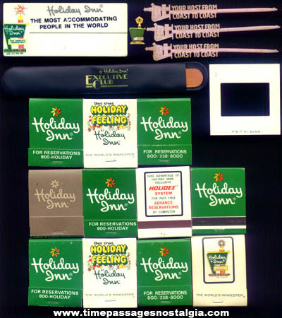 (18) Old Holiday Inn Hotel Advertising Items