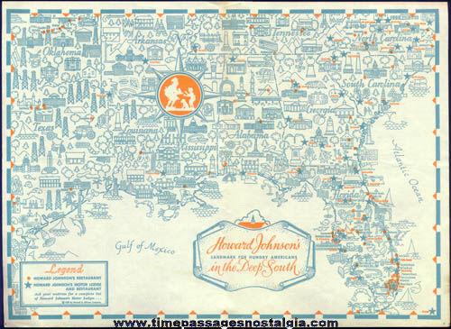 (9) Old Howard Johnson's Restaurant & Hotel Advertising Items