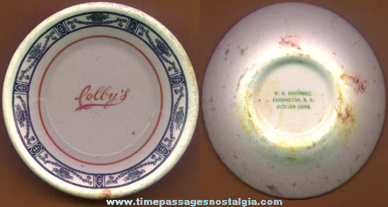 Old Rochester, New Hampshire Colby's Restaurant Advertising China Bowl