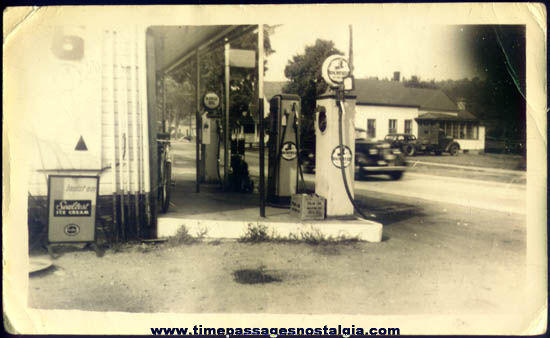 Old Richfield Gasoline Station Photograph