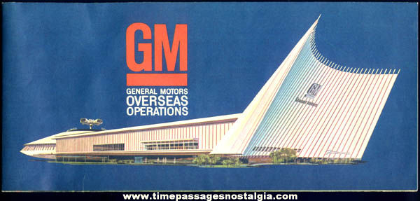 Old General Motors Overseas Operations Auto Advertising Brochure Poster
