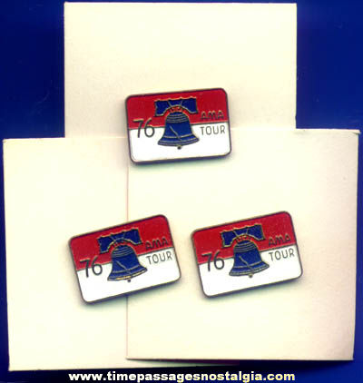 (3) Unused 1976 Bicentennial American Motorcycle Association AMA Tour Pins