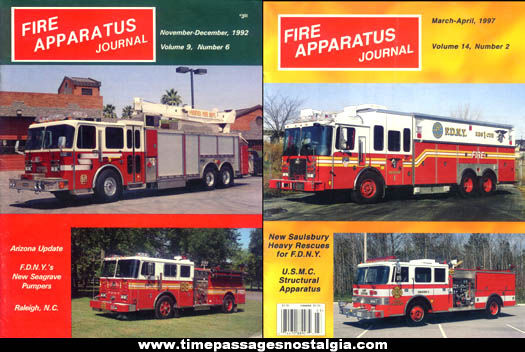 (2) Old Fire Apparatus Journal Back Issue Fire Truck Magazines