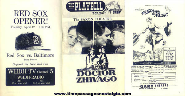 1966 Saxon Theatre Boston Massachusetts Advertising Program Booklet
