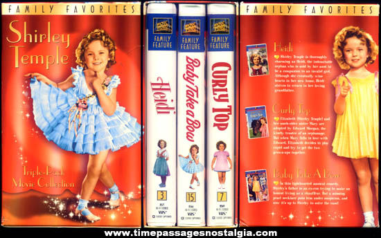 Boxed Shirley Temple Triple Pack Movie Video Collection