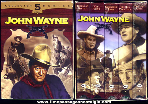 Boxed John Wayne Five Pack Movie Collectors Series
