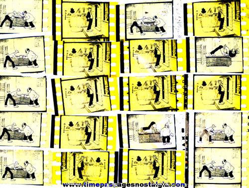 (40) Old 35mm Cartoon Character Film Frames