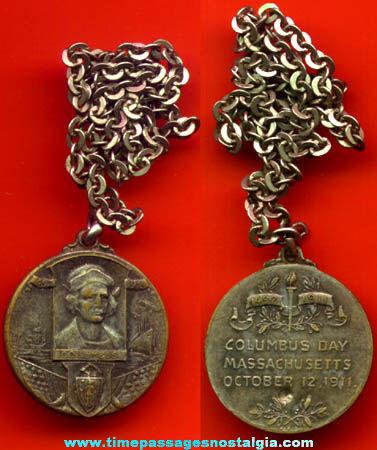 1911 Christopher Columbus Columbus Day Medallion