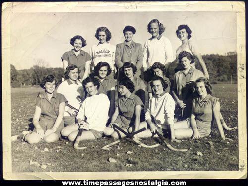 Old Malden Massachusetts School Girls Field Hockey Team Photograph
