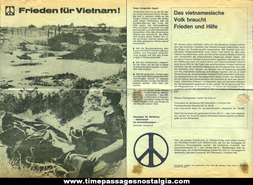 (2) 1967 Peace For Vietnam German Brochures
