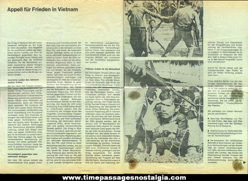 (2) 1967 Peace For Vietnam German Brochures