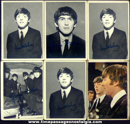 (14) Old Beatles Music Bubble Gum Trading Cards