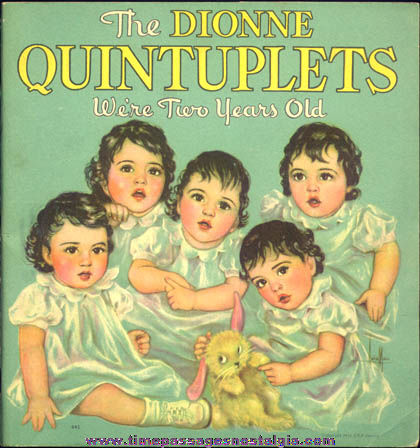 ©1936 Dionne Quintuplets We're Two Years Old Whitman Book