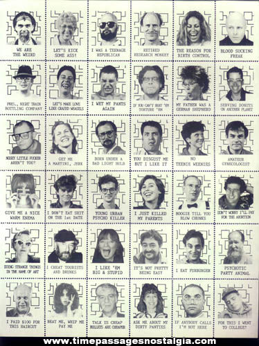 (5) Old Complete Character Stamp Sheets (180 stamps)
