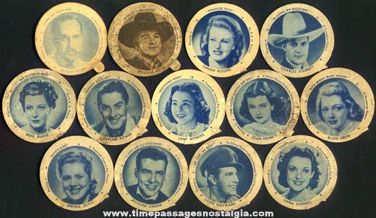 (13) Old Hoods Ice Cream Cup Hoodsie Movie Star Premium Dixie Lids