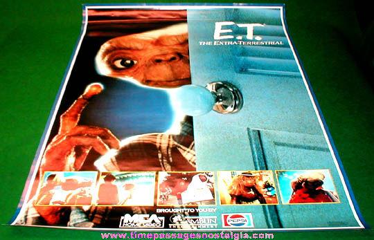 ©1982 ET The Extra Terrestrial Pepsi Advertising Movie Poster