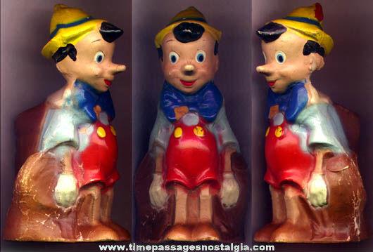 Early Colorful Walt Disney Enterprises Pinocchio Character Figure Coin Bank