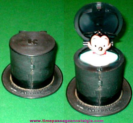 Old Walt Disney Mickey Mouse Kohner Push Button Pop Pal Toy