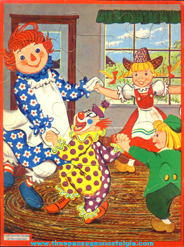Colorful 1956 Raggedy Ann Doll Character Jigsaw Puzzle