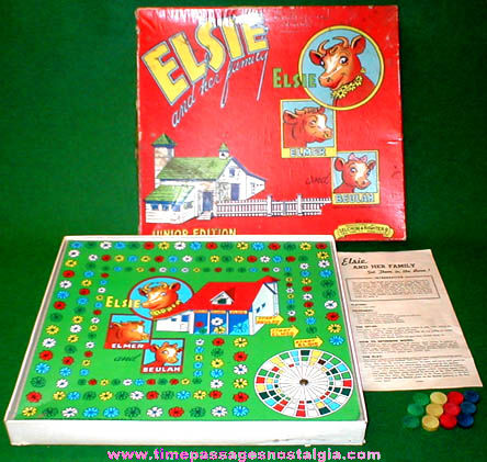 Colorful ©1941 Elsie The Cow and Her Family Board Game