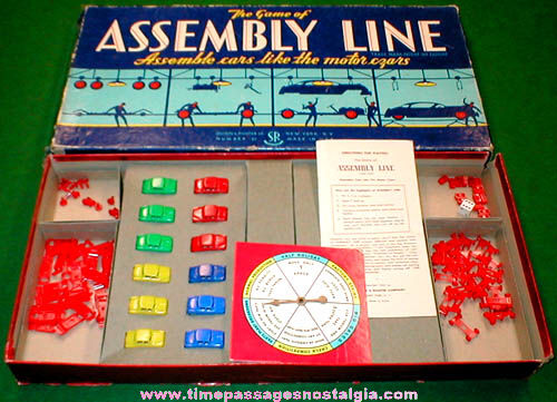 ©1953 Assembly Line Auto Factory Board Game