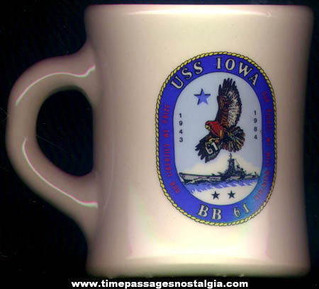 United States Navy Ship U.S.S. Iowa BB-61 Battleship Coffee Cup
