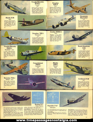 ©1942 Airplanes Of The U.S.A. Book