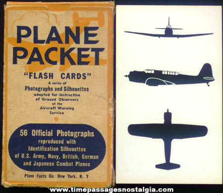 Old Boxed Plane Packet Aircraft Identification Cards