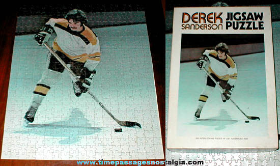 ©1971 Derek Sanderson Boston Bruins Hockey Jig Saw Puzzle