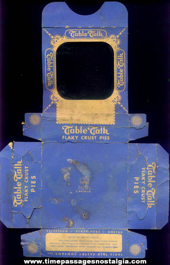 Old Table Talk Snack Pie Advertising Box
