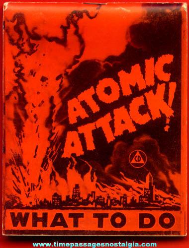 Old Cold War Atomic Attack Information Booklet