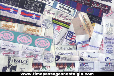 (300) Colorful Woven Cloth Advertising Patch, Label and Tag Company Samples