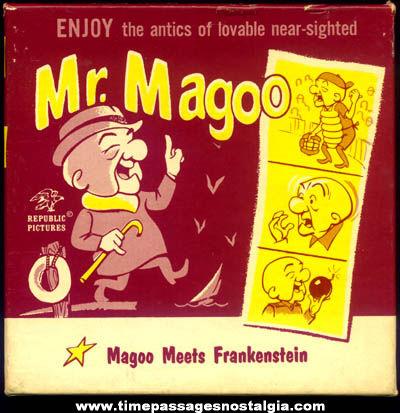 Old Boxed Mr. Magoo Meets Frankenstein Cartoon Character Movie Film