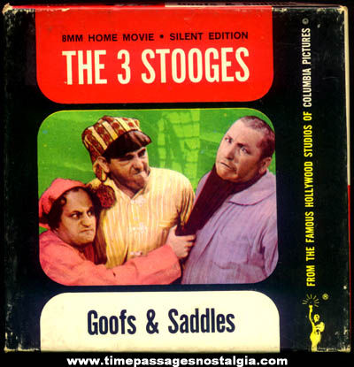 Boxed �1962 Three Stooges Goofs & Saddles Character Movie Film