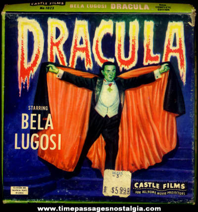 Old Boxed Bela Lugosi Dracula Character Movie Film