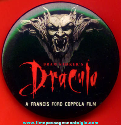 �1992 Bram Stoker's Dracula Movie Promotional Advertising Pin Back Button