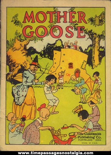 Old Mother Goose Nursery Rhyme Character Childrens Book