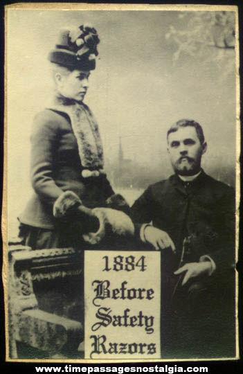 1884 Safety Razor Advertising Victorian Photograph