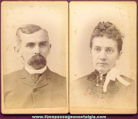 (2) Old New Hampshire Cartes de Visite Photographs
