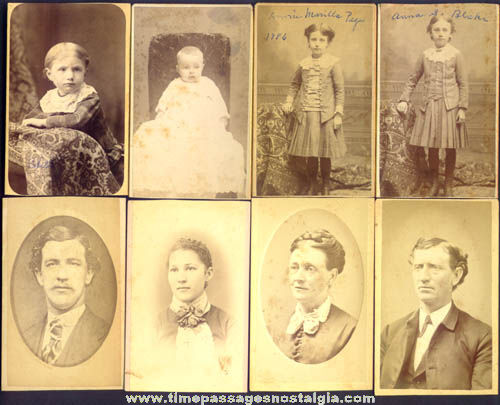 (8) Old New Hampshire Cartes de Visite Photographs