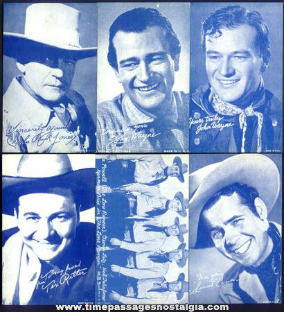 (6) Old Western Cowboy Movie Actor Arcade Exhibit Cards