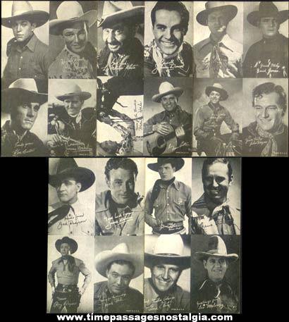 (5) Old Western Cowboy Movie Actor Arcade Exhibit Cards