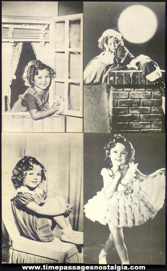 (4) Old Shirley Temple Movie Arcade Exhibit Trading Cards